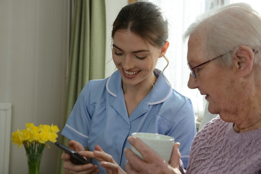 Carer kept up-to-date with CareLineLive's Carer Companion App